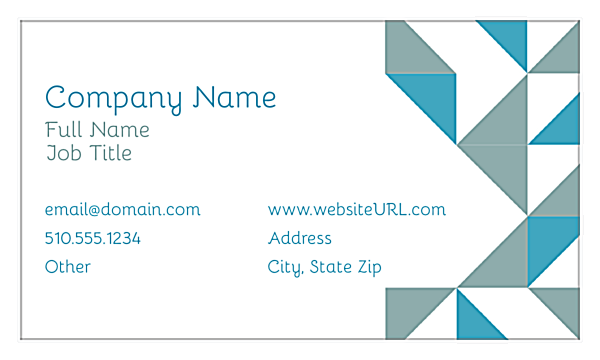 Print Business Cards with Our Geometric Fun Design Template front - Business Cards Maker