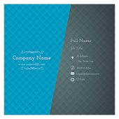Blue & Gray Diamonds - business-cards Maker