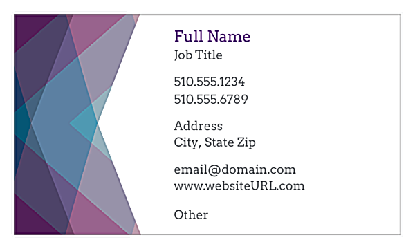 Purple Haze front - Business Cards Maker