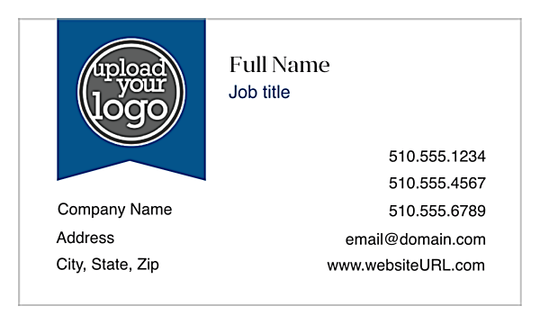 Ribbon front - Business Cards Maker