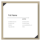 Indexed Elegance - business-cards Maker
