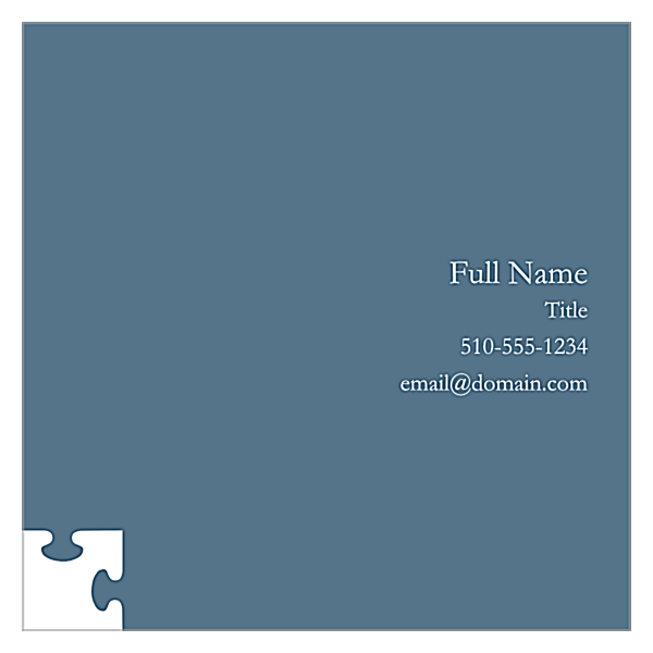 Piece The Puzzle back - Business Cards Maker