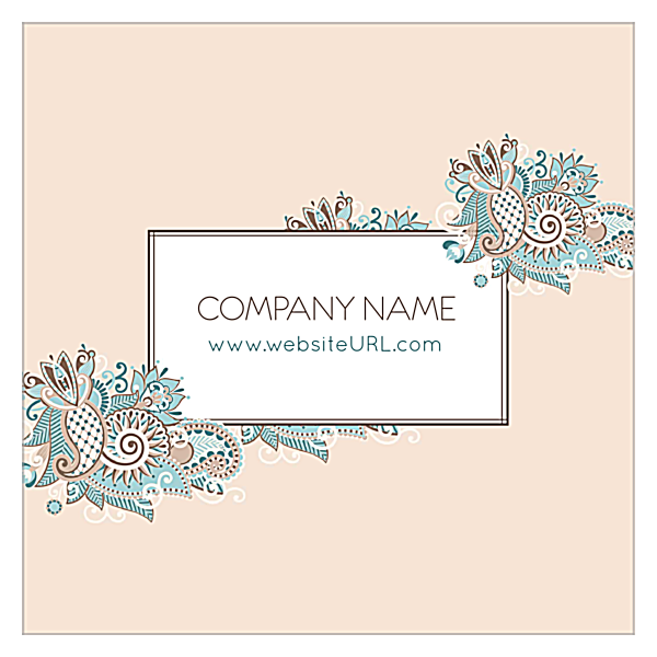 Floral Paisley front - Business Cards Maker