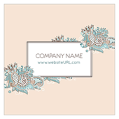 Floral Paisley - business-cards Maker