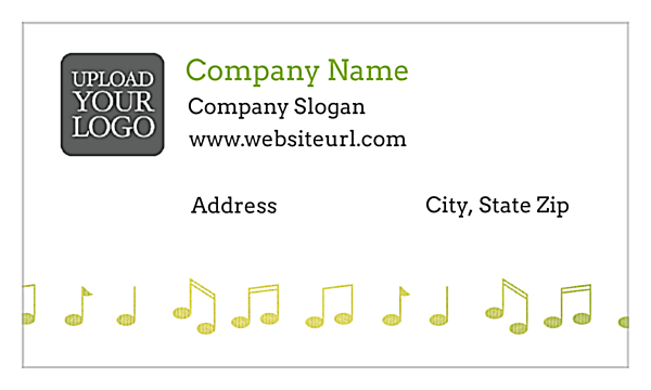 Music Notes back - Business Cards Maker