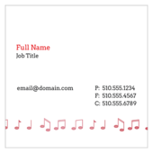 Music Notes - business-cards Maker