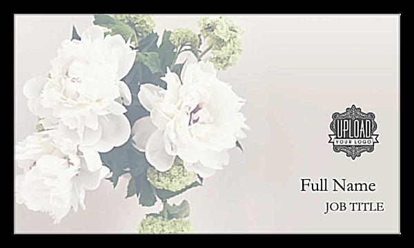 Hydrangea Elegance front - Business Cards Maker