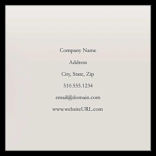 Hydrangea Elegance back - Business Cards Maker