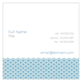Scallop Pattern - business-cards Maker
