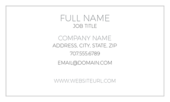 Center Align - business-cards Maker