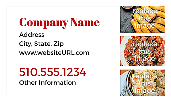 What's Cookin'? back - Business Cards Maker