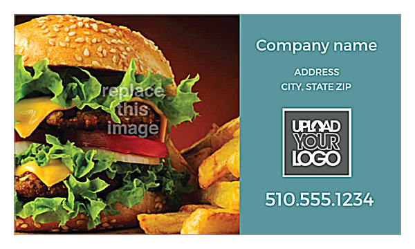 Burger & Fries front - Business Cards Maker