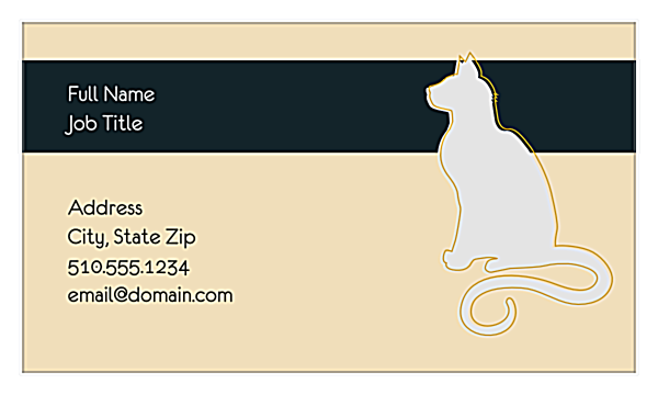 Couture Pets back - Business Cards Maker
