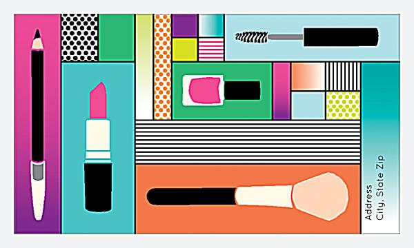 Pop Makeup back - Business Cards Maker