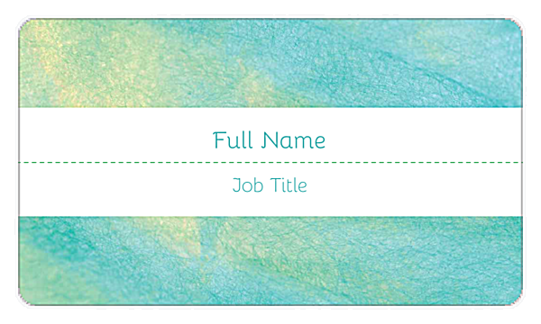 Teal Shimmer back - Business Cards Maker