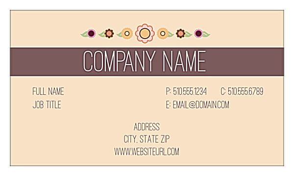 Flower Power front - Business Cards Maker
