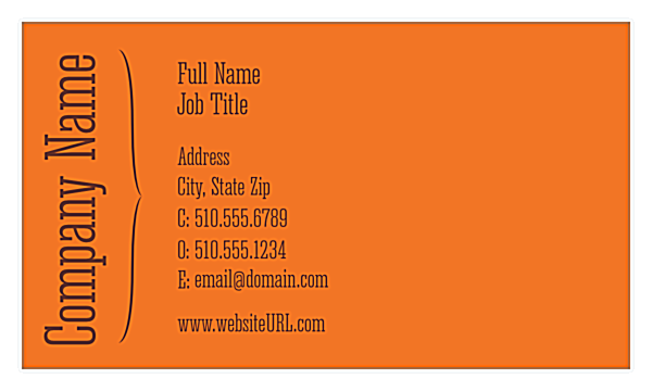 Groovy Waves front - Business Cards Maker