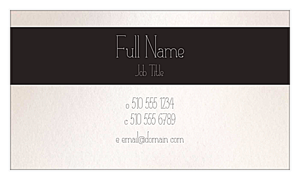 Flower Border back - Business Cards Maker