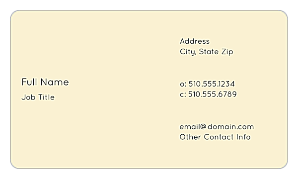 Cityscape Dream back - Business Cards Maker
