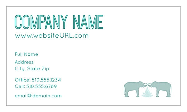 Elephant Textile front - Business Cards Maker