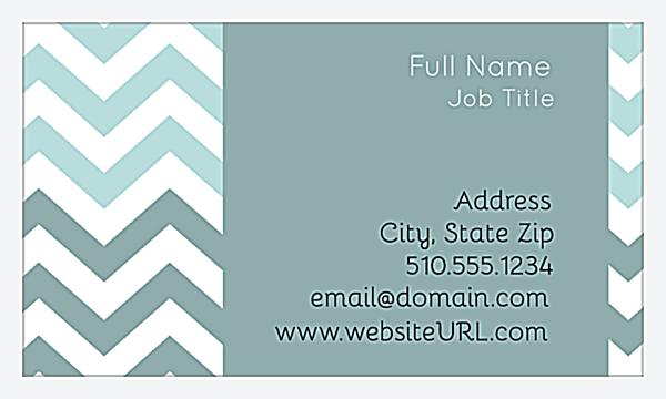 Crooked Stripes back - Business Cards Maker