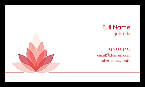 Lotus Connection back - Business Cards Maker