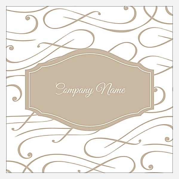 Elegant Scroll back - Business Cards Maker
