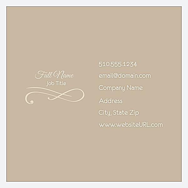 Elegant Scroll front - Business Cards Maker