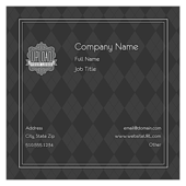 Gray Argyle - business-cards Maker