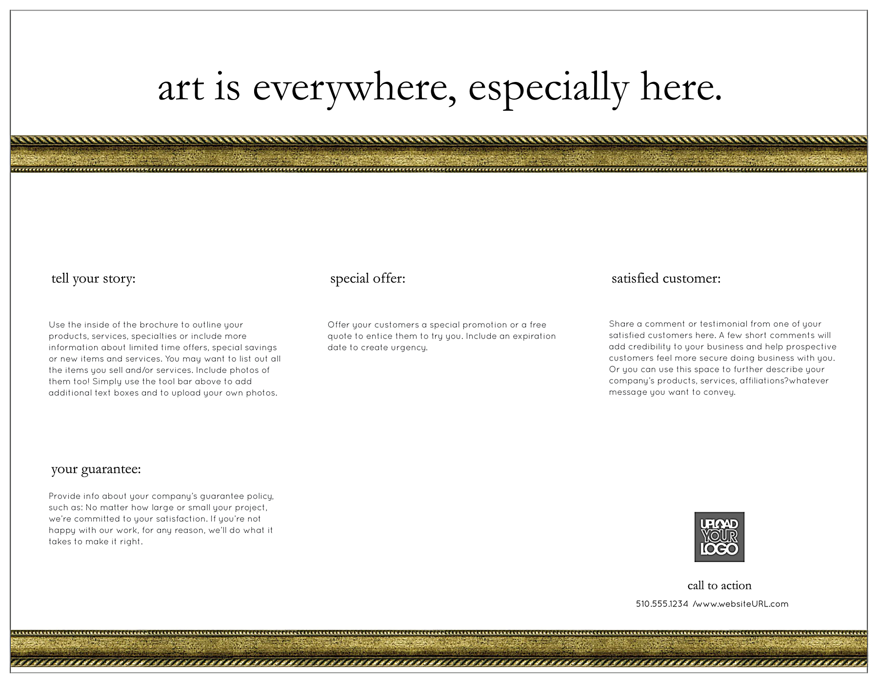 Exhibition Gallery back - Brochures Maker