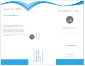 Blue Flowing Line - brochures Maker