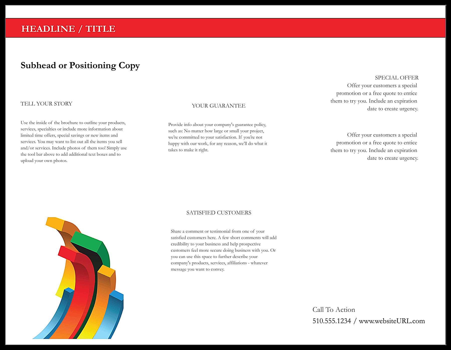 Minimal Chart back - Brochures Maker