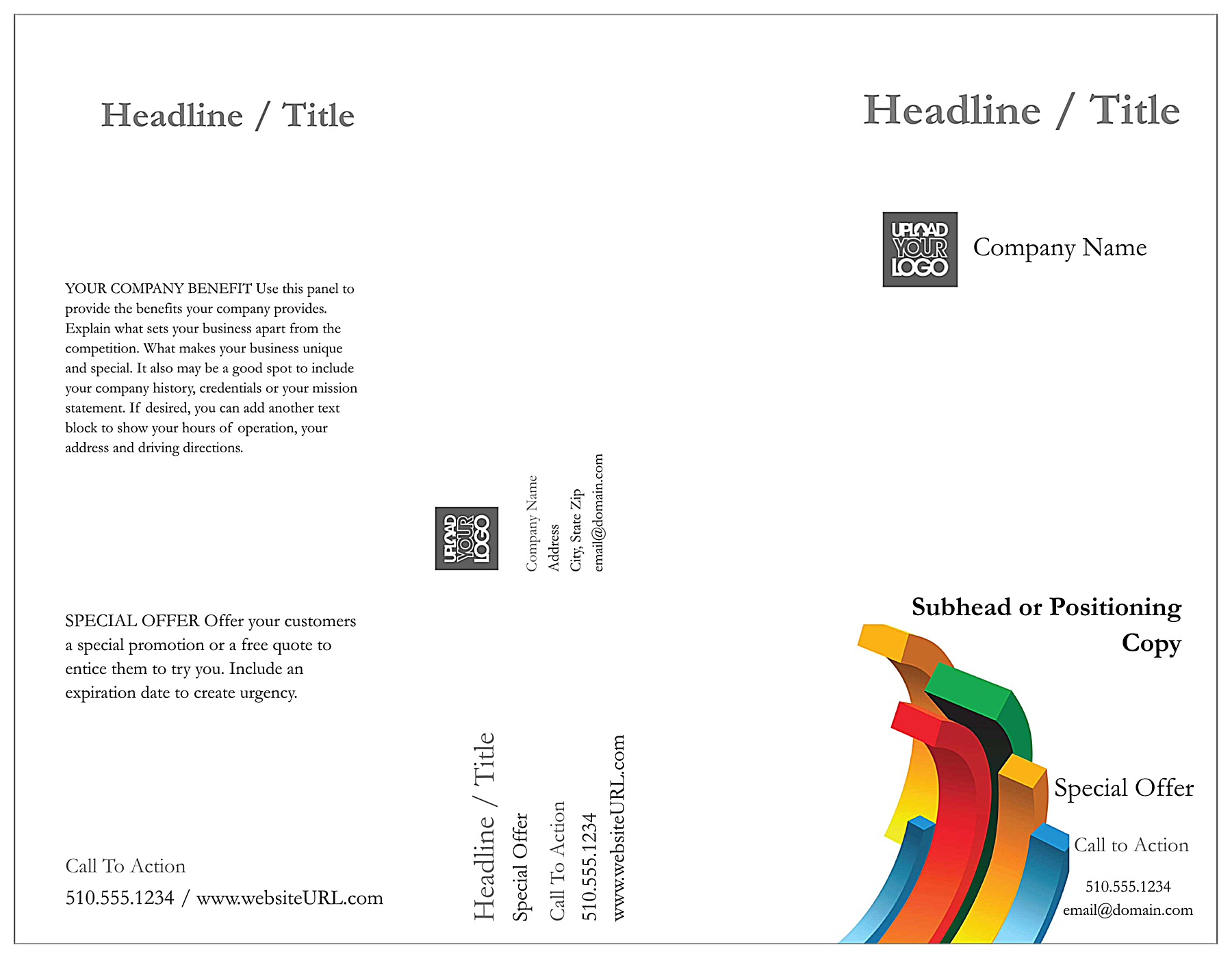 Minimal Chart front - Brochures Maker