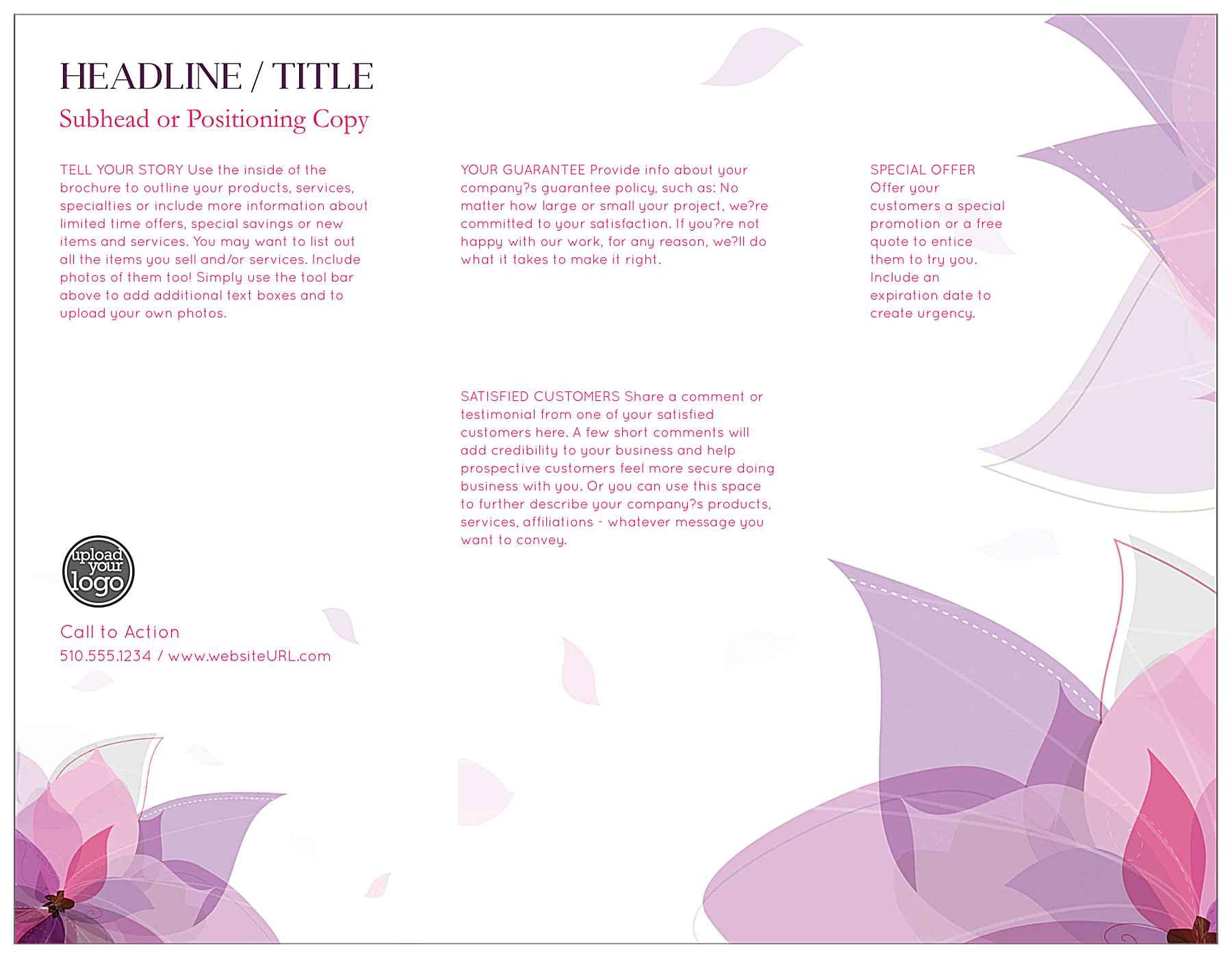 Purple Flower back - Brochures Maker