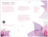Purple Flower - brochures Maker