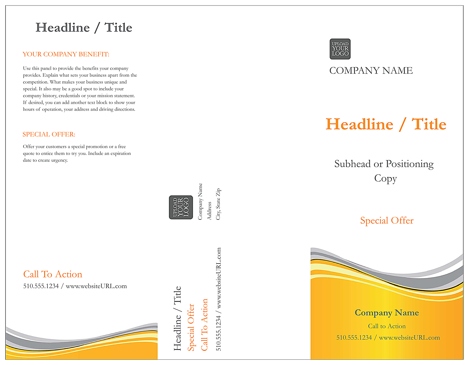 Golden Wave front - Brochures Maker