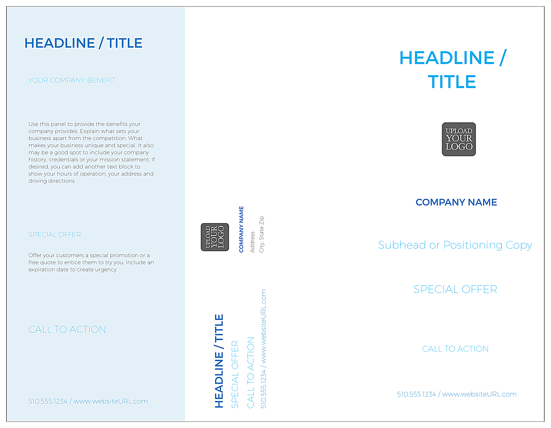Minimal Blue front - Brochures Maker