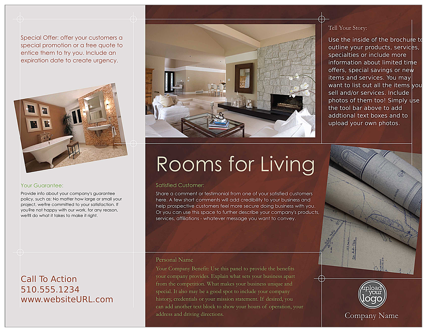 Remodel Home back - Brochures Maker