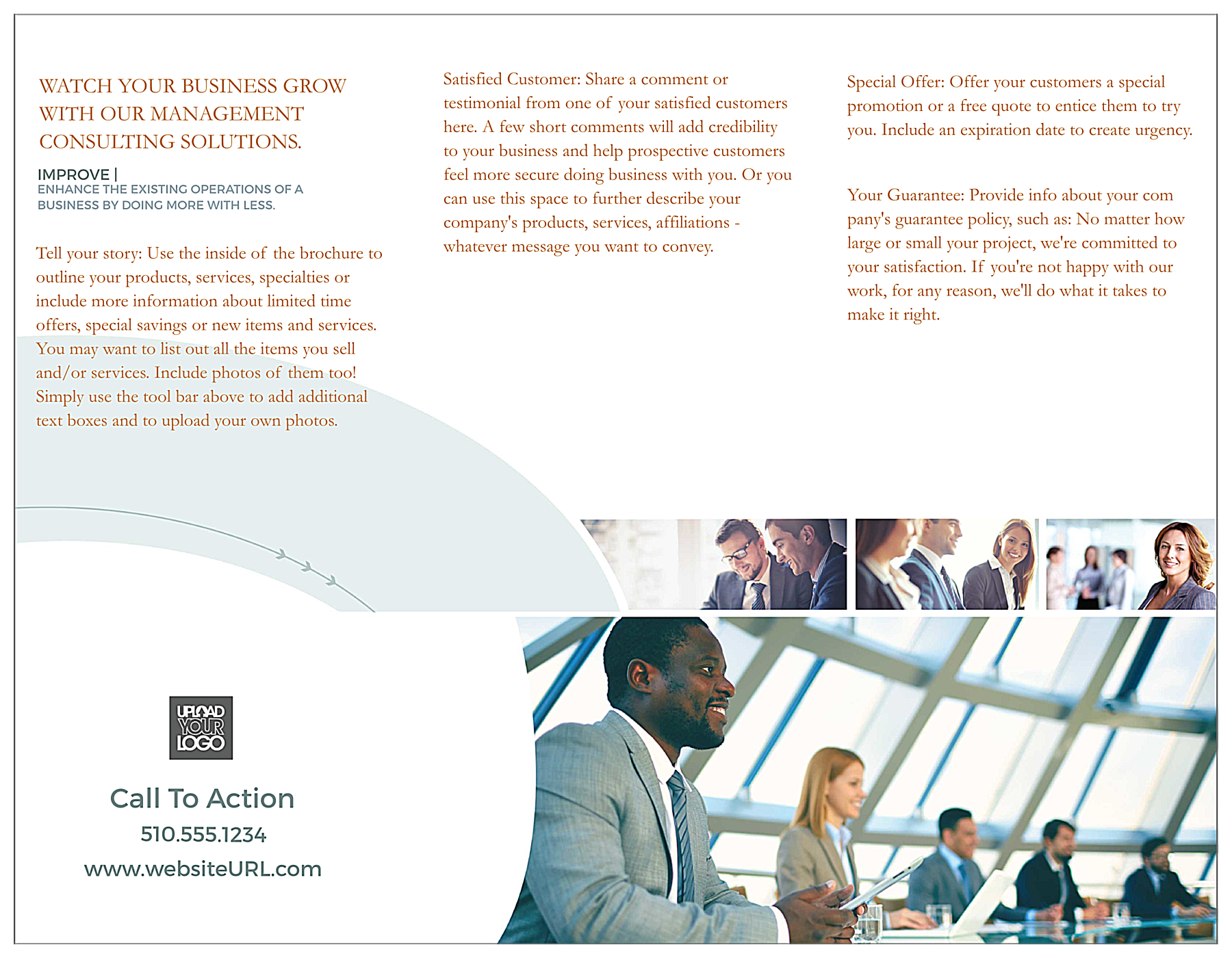 Consulting back - Brochures Maker