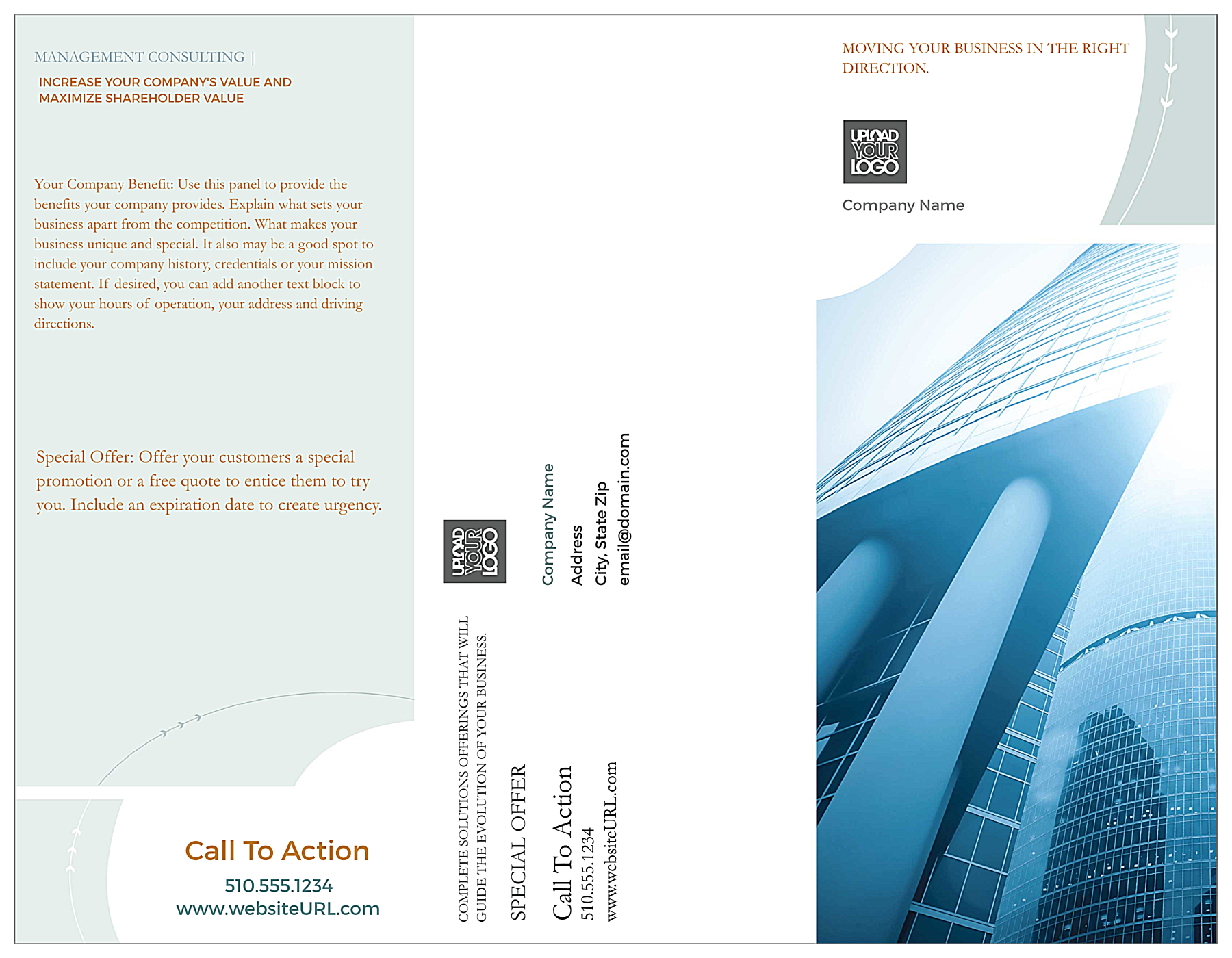 Consulting front - Brochures Maker