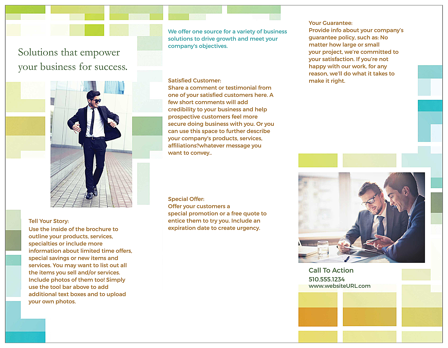 Business Solutions back - Brochures Maker