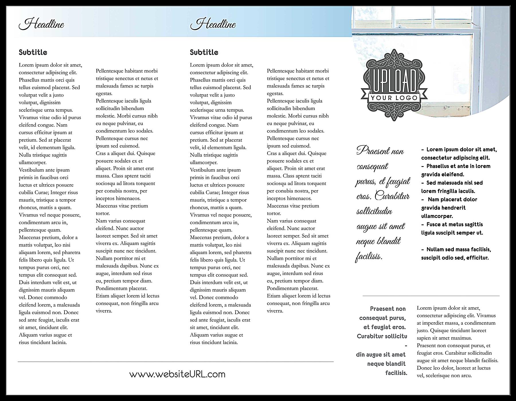 Soft Blue Retail back - Brochures Maker