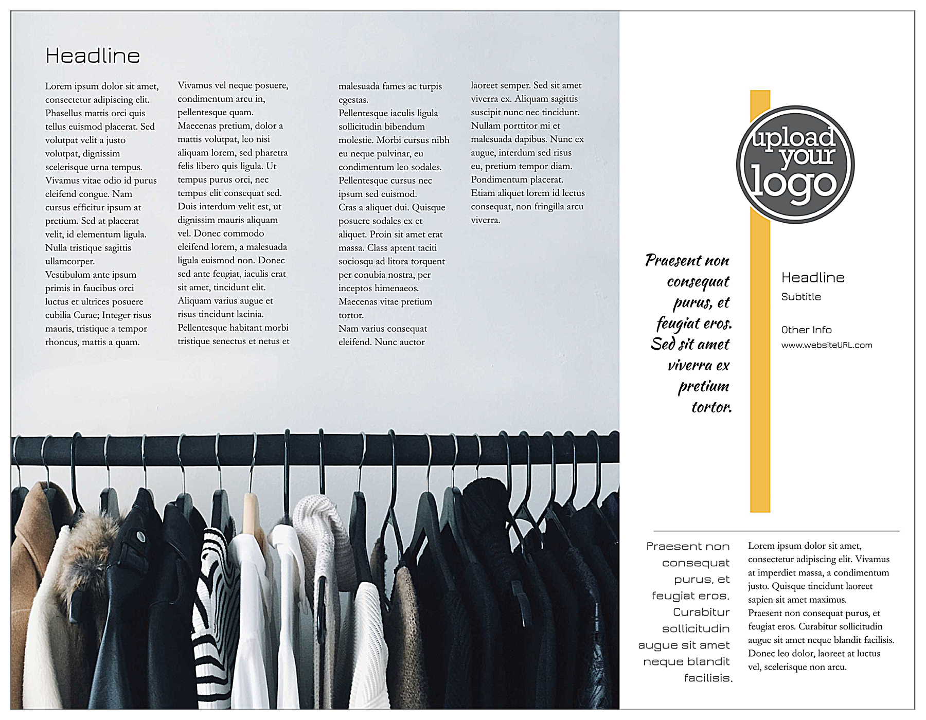 Sleek Boutique back - Brochures Maker