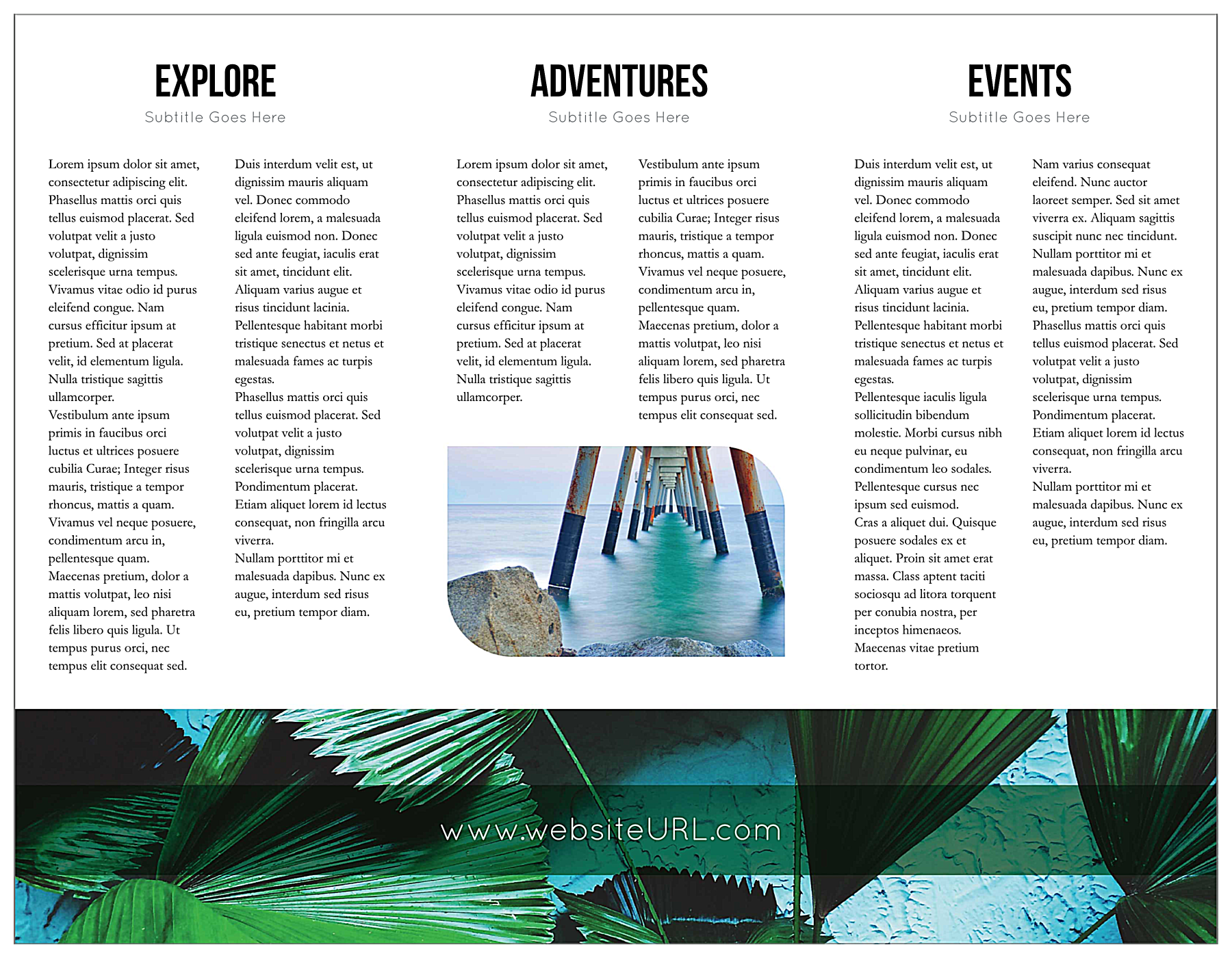 Travel Greener back - Brochures Maker