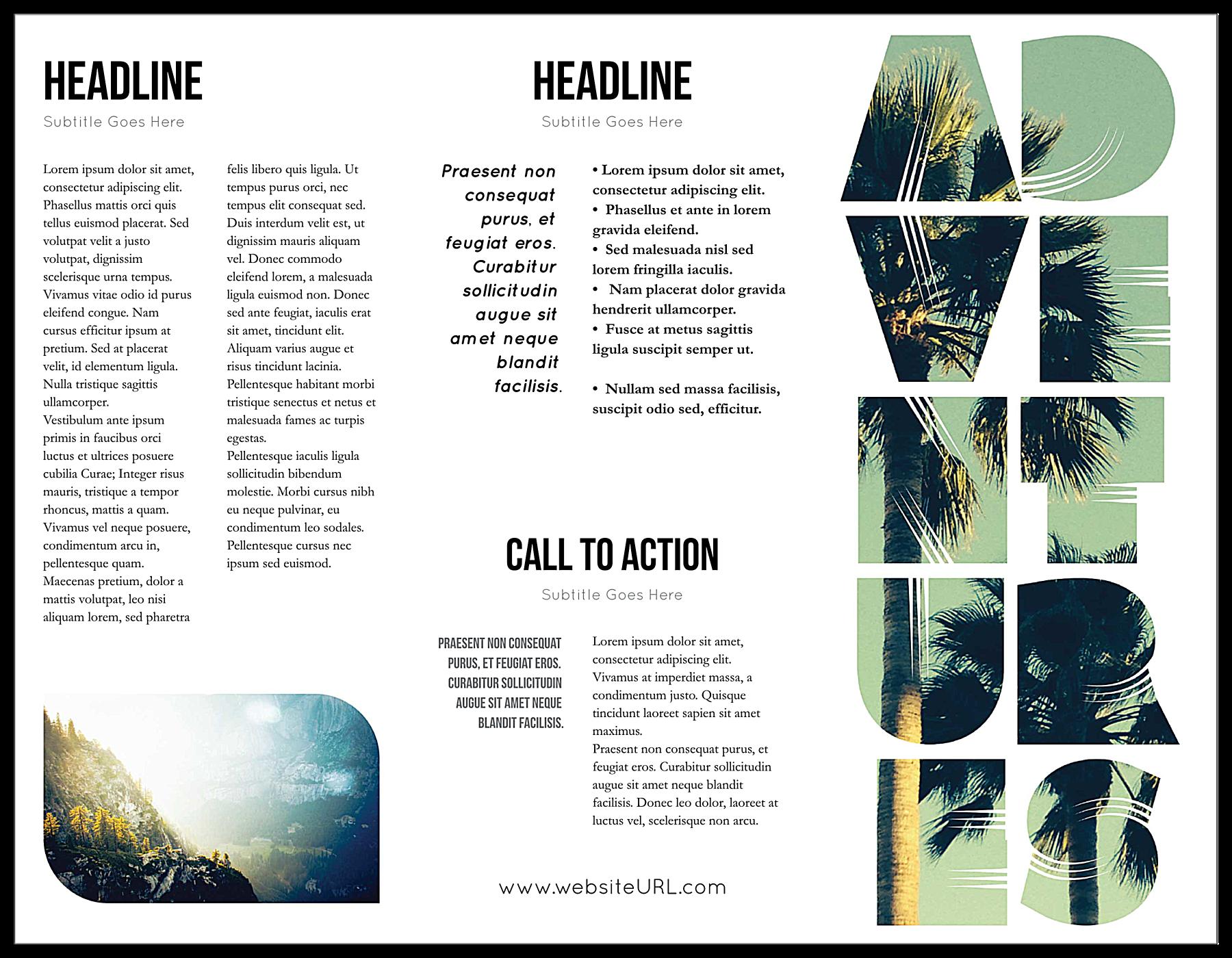 Travel Greener front - Brochures Maker