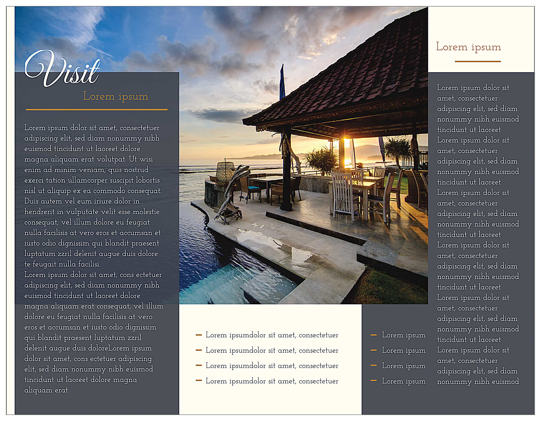 Travel the World back - Brochures Maker