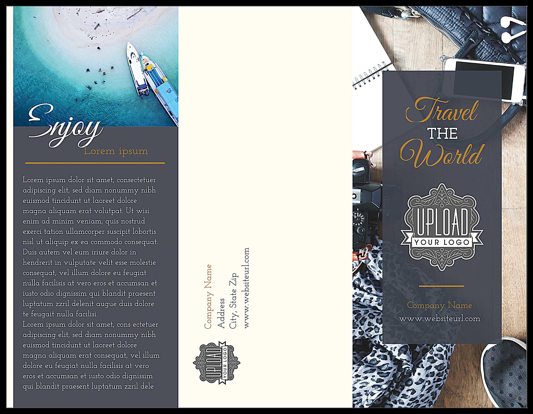 Travel the World front - Brochures Maker