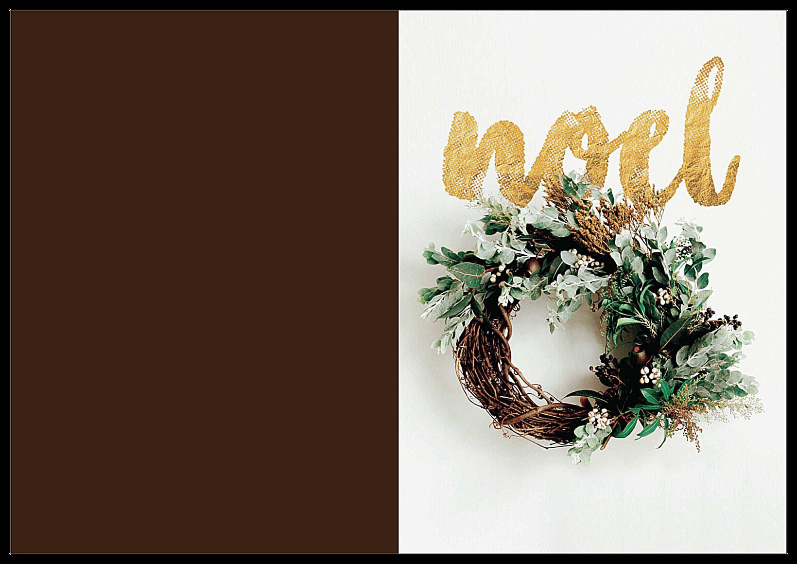 Gilded Noel front - Greeting Cards Maker