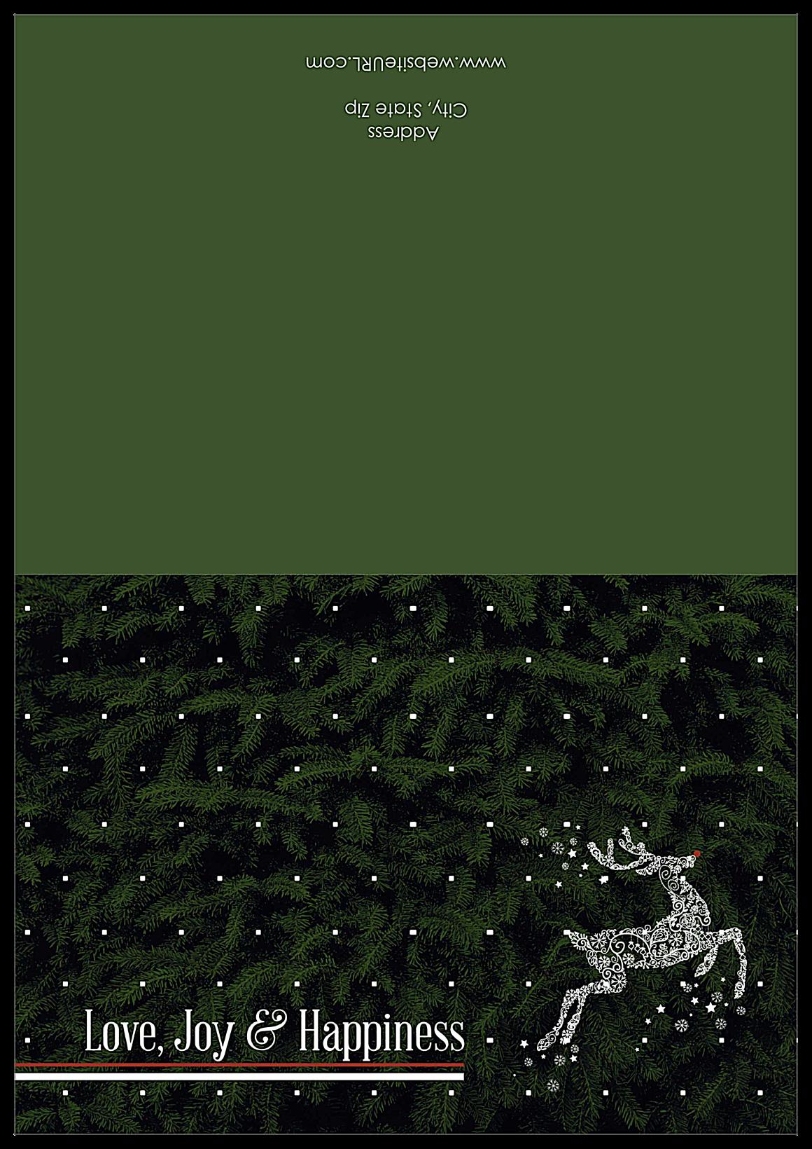Swirl Reindeer front - Greeting Cards Maker