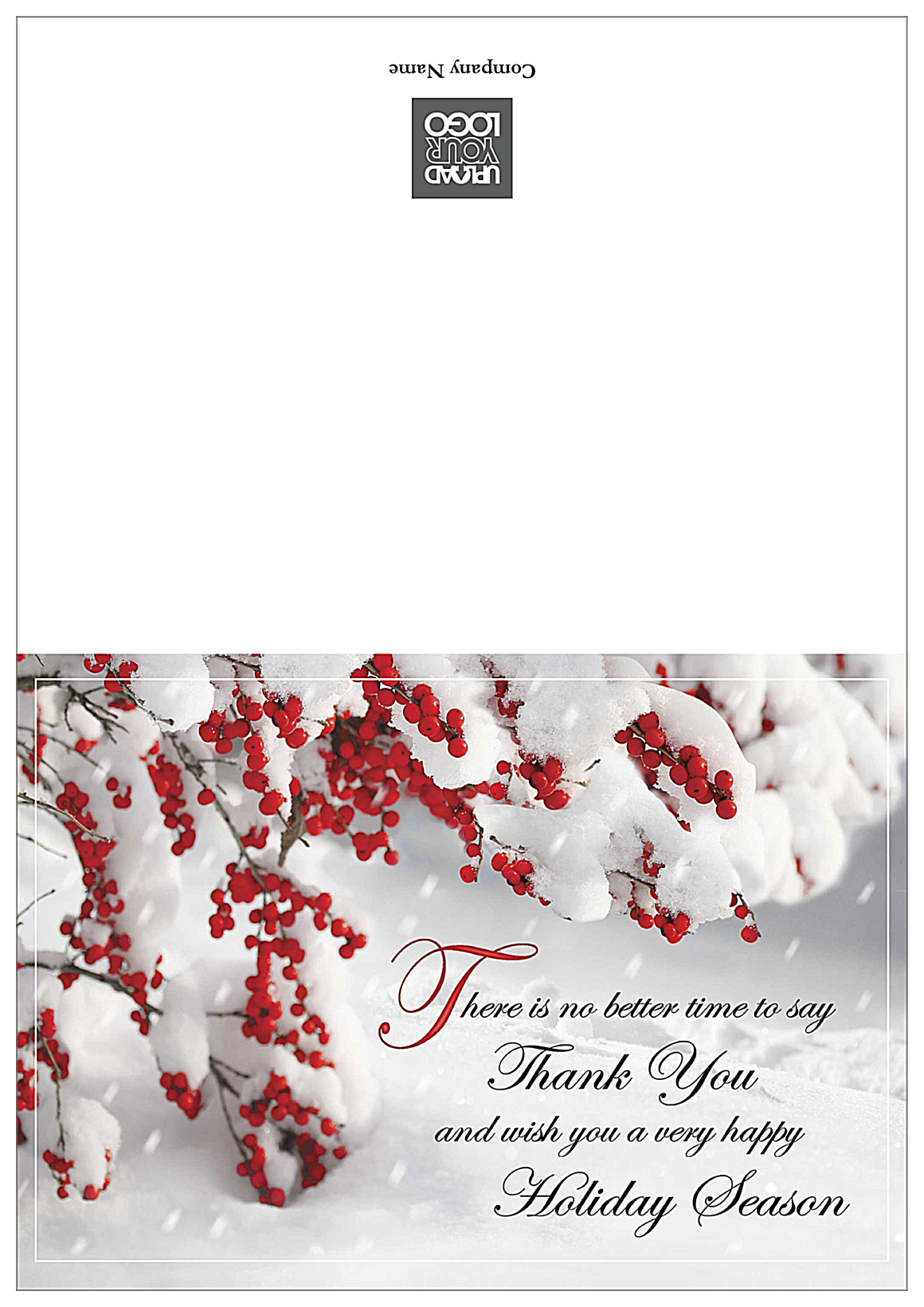 Thank You Holiday front - Greeting Cards Maker